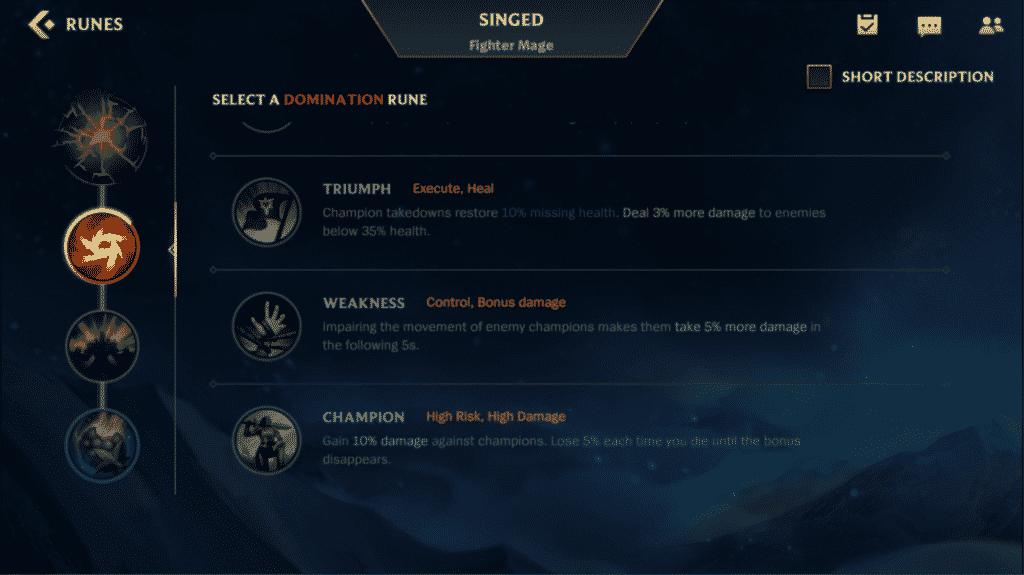 Updated Rune Page in Wild Rift Beta