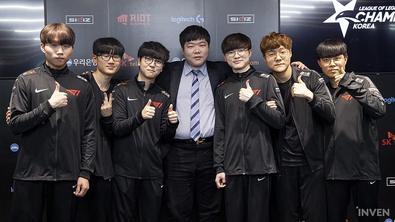 T1 2020 Roster Featuring Faker and his teammates
