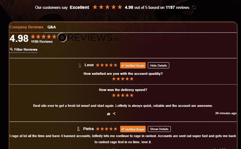 LolFinity Product Reviews
