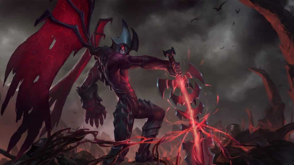 Aatrox pulling his blade out of the earth | Most Broken Items in LoL