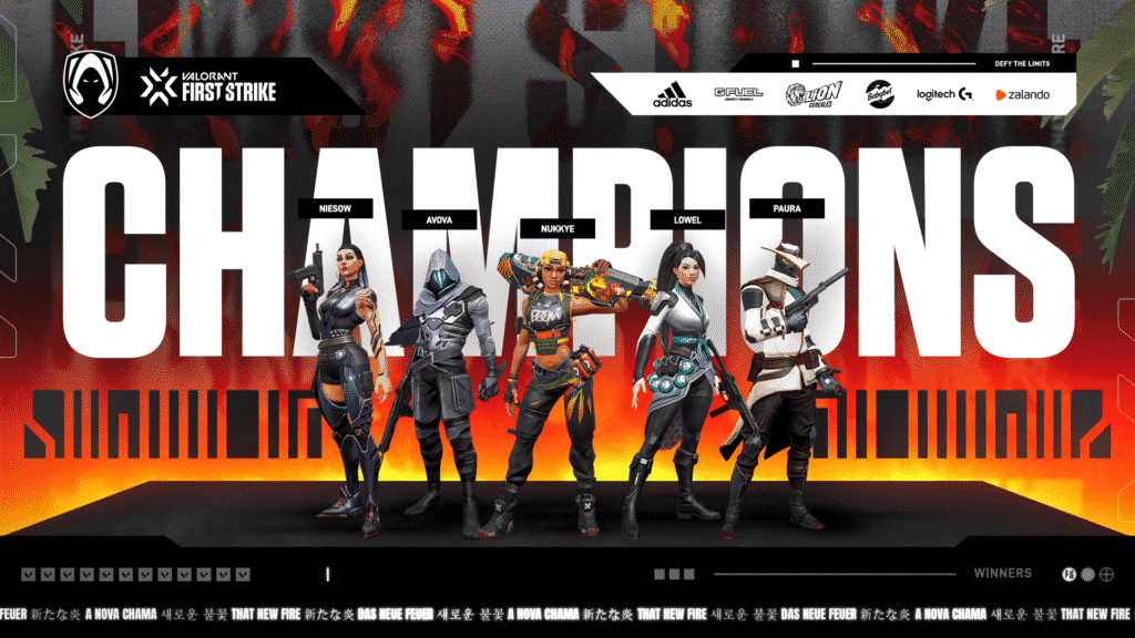 Team Heretics Banner for Valorant First Strike as Champions