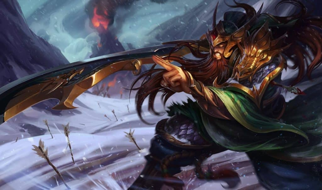 Tryndamere looking like a mongol warrior