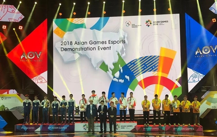 The 2018 Asian Games participated by Chinese and Korean Players