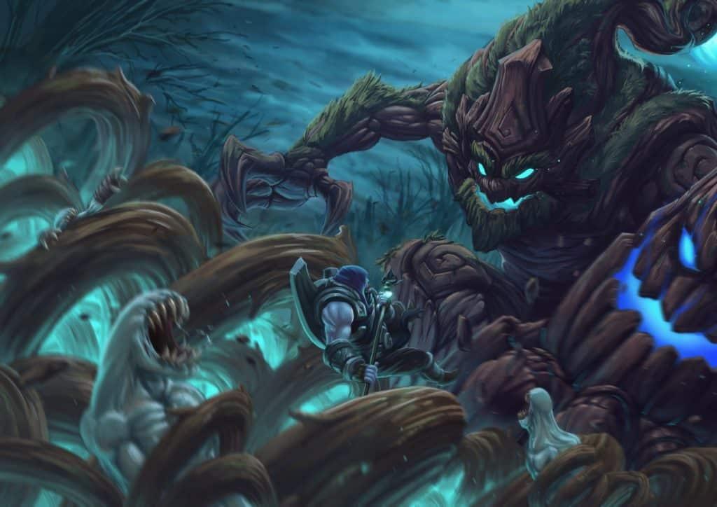 Maokai using his ultimate abilities splash art | Maokai Guide
