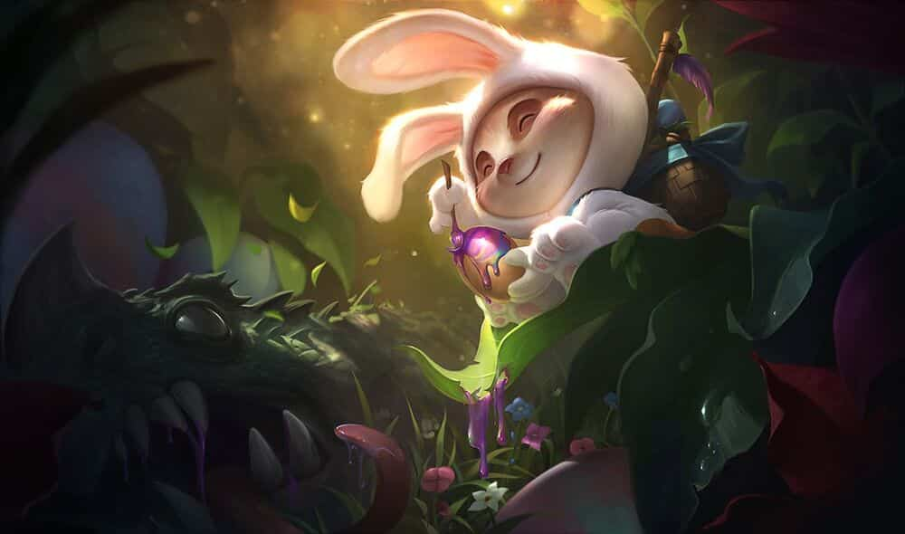 Teemi in a bunny outfit chilling in the woods | League of Legends Mistakes