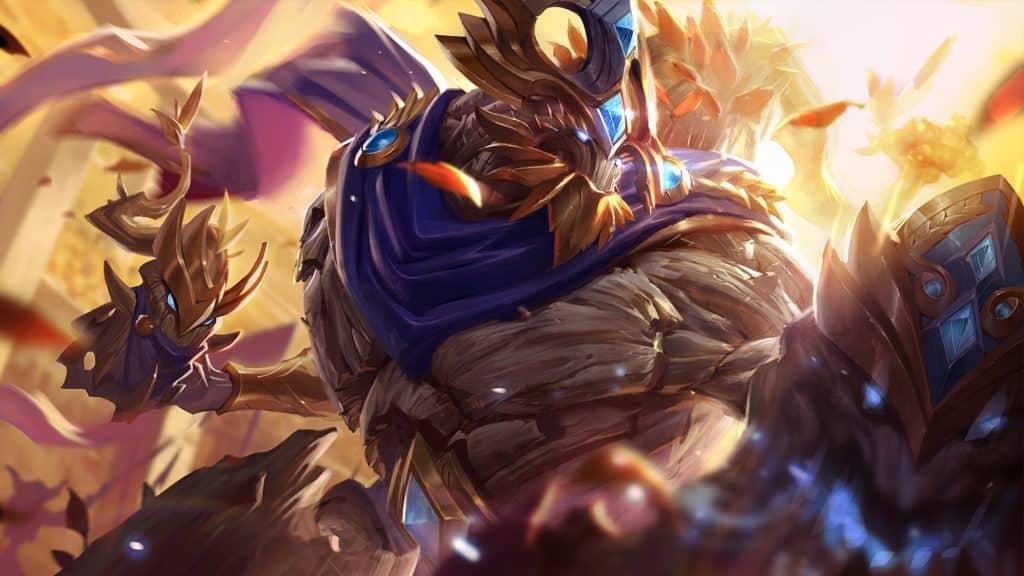 Maokai's victorious skin shining gold