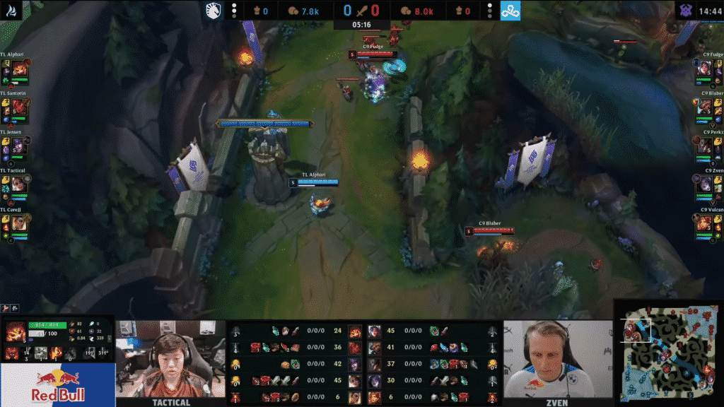 Blaber on his way to gank top lane   Watch lol pro games