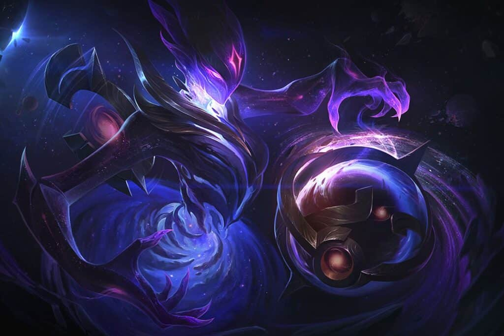 Orianna surrounded by the cosmic energy of the universe