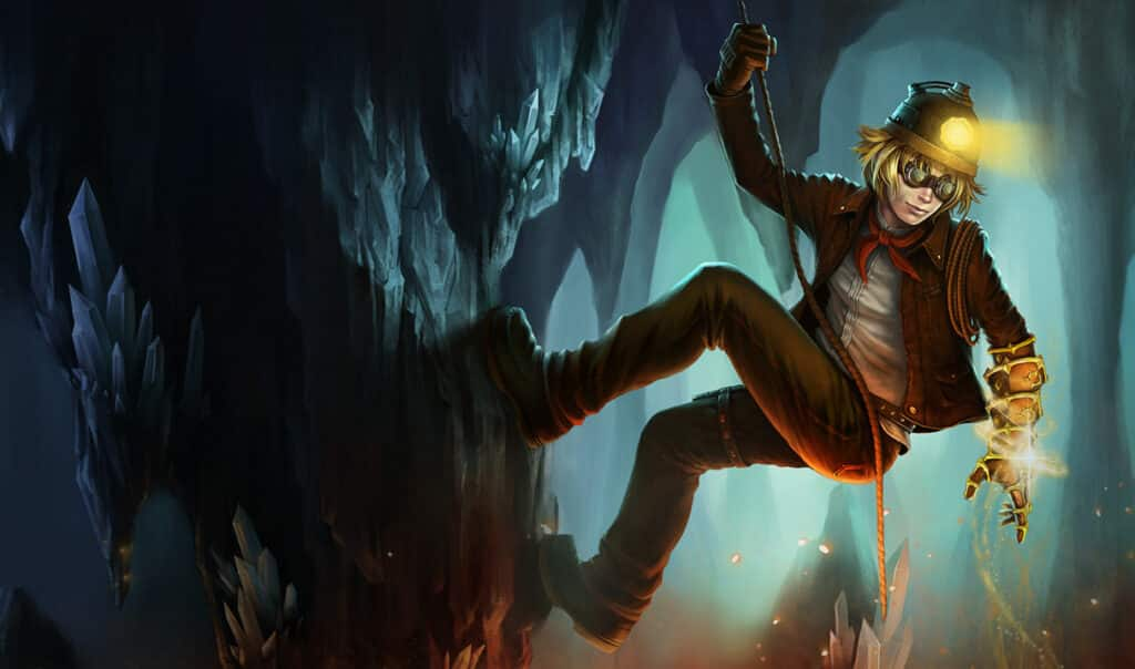 Ezreal wearing an explorer outfit