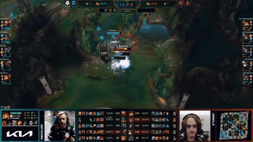 G2 Esports brawling inside the jungle