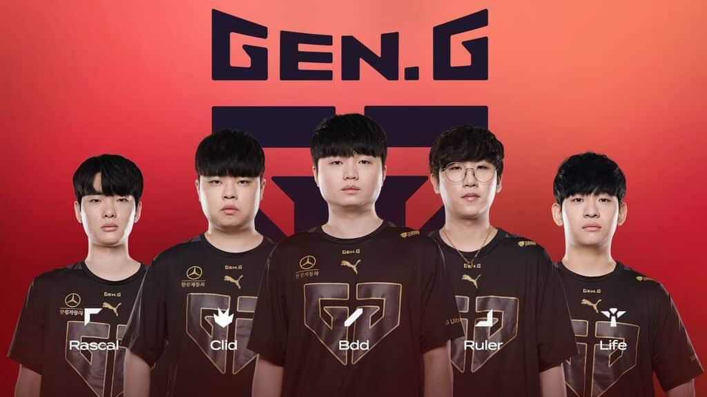 LCK Teams 2021 Roster for Gen.G Rascal, Clid, BDD, Ruler, Life