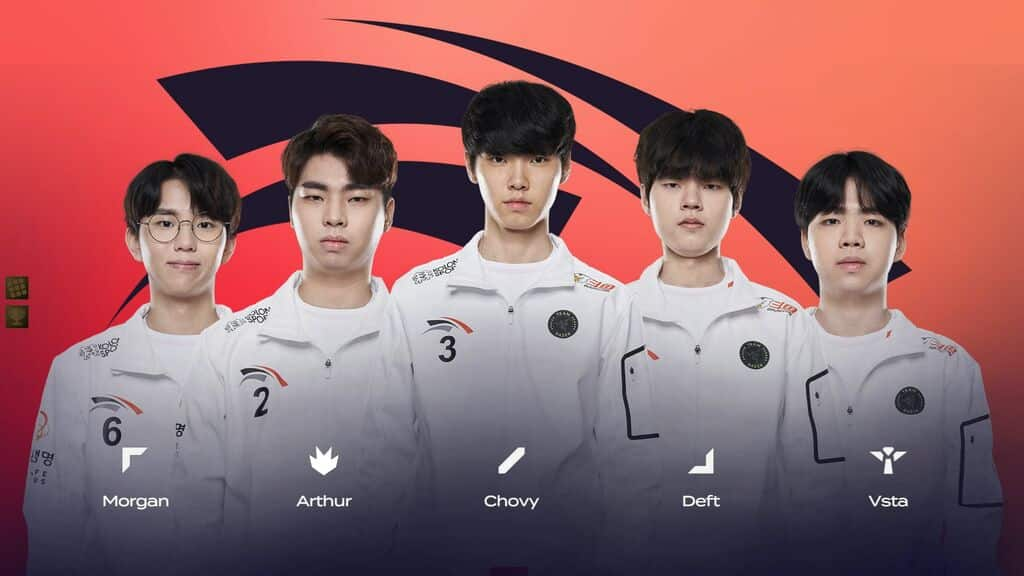 LCK Teams 2021 Roster for HLE - Morgan, Arthur, Chovy, Deft, Vsta