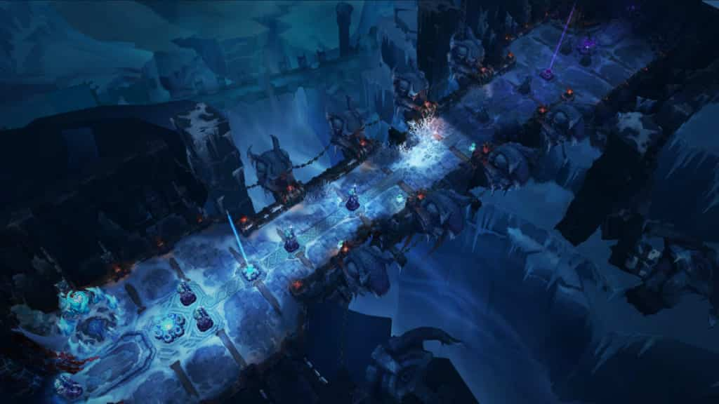 Top View of the Map in ARAM - Howling Abyss