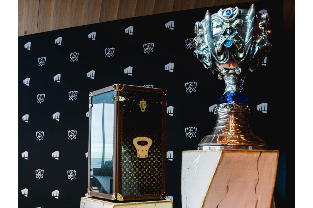 Louis Vuitton trophy case at Worlds 2019