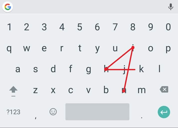 A digital keyboard swiping to spell Jhin forming a number 4