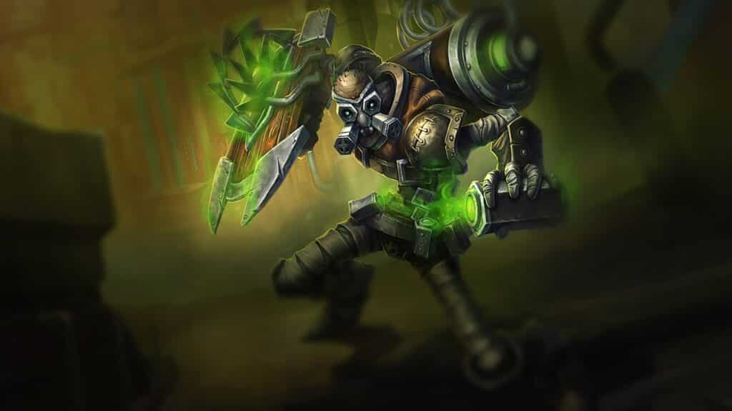 Old concept art for Singed on Season 1
