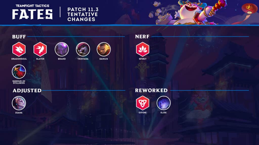 Riot Games' official patch notes for 11.3