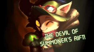 Two-faced Teemo, smiling and menacing at the same time   teemo guide banner