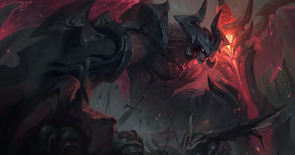 Aatrox standing over the world | Lol character races