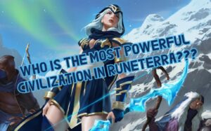 Ashe and her Freljord companions | LoL Character Races Banner