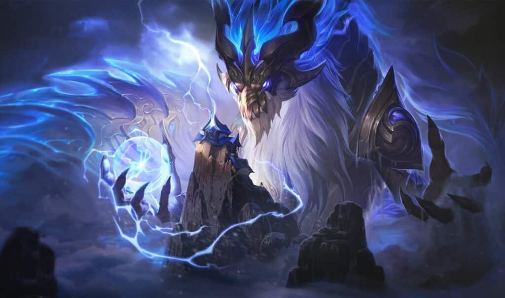 Aurelion Sol standing over Mount Targon