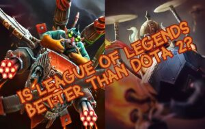 Corki and Gyrocopter Side by Side - League of Legends vs Dota 2 comparison banner