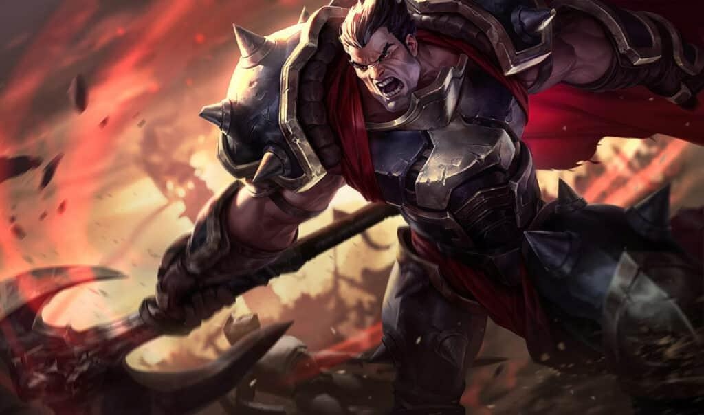 Darius slashing through the enemy forces