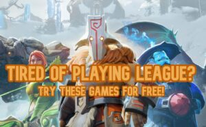 Dota Heroes Lineup - Games like League of Legends Banner