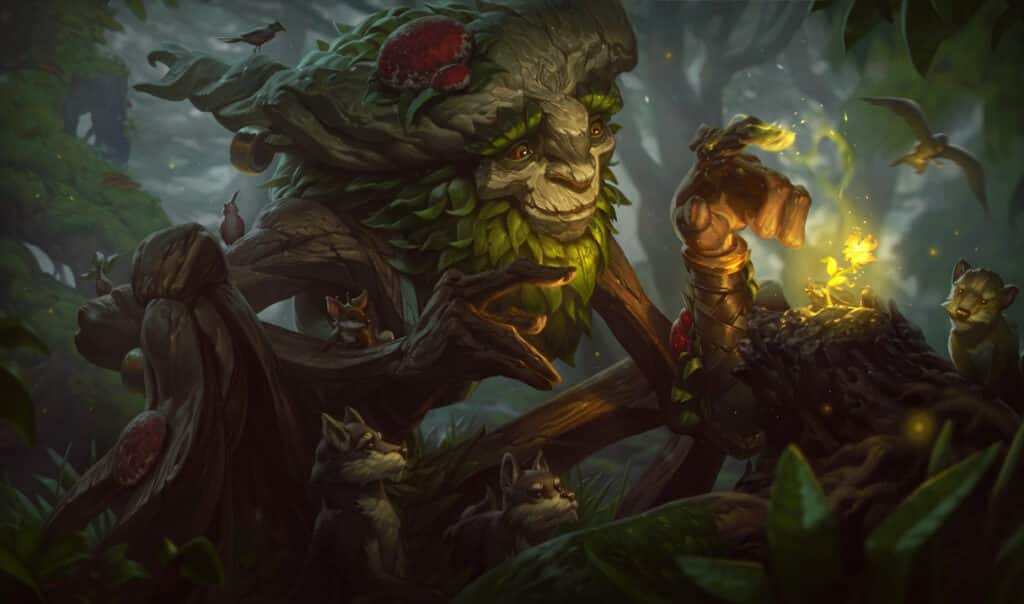 Ivern taking care of the forest creatures | LoL character races