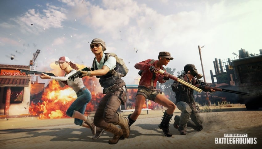 A Squad of PUBG Characters