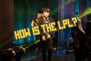 Xiaohu walking on stage - LPL Spring 2021 Banner