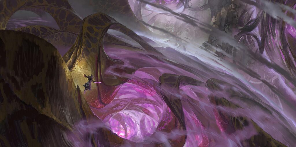 Mountains of Organic Flesh and Machinery in The Void League of Legends