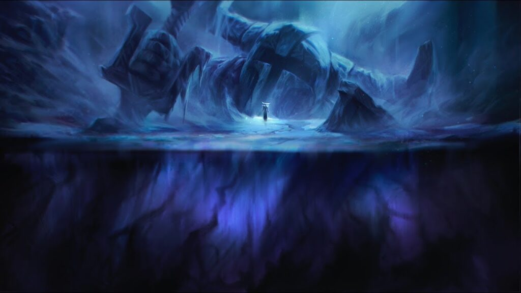 A Watcher, sealed inside the frozen Howling Abyss
