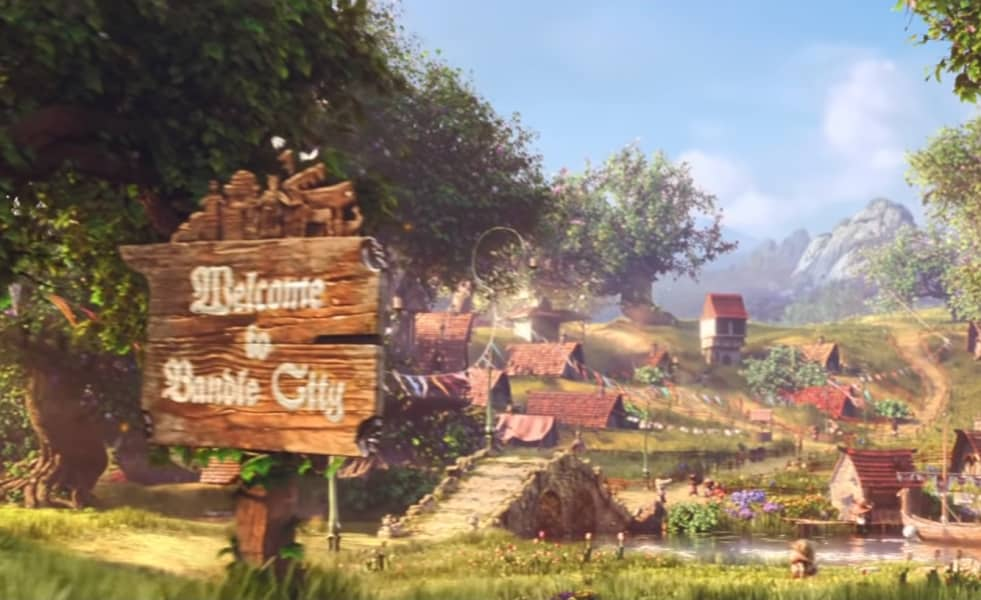 A small whimsical village called Bandle City