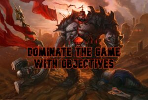 Sion standing over a defeated Garen | League of Legends objectives banner