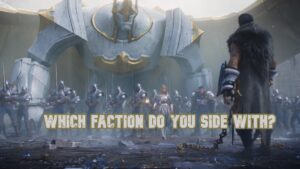 sylas facing off against the demacian army | League of Legends Factions Banner