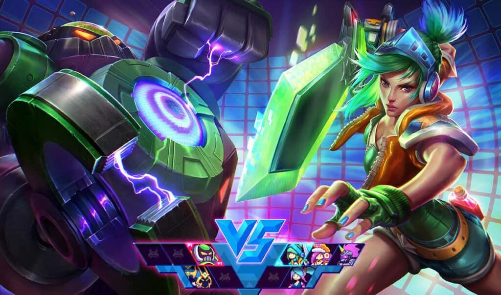 A Video Game version of Riven vs Blitzcrank - Best LoL skin Lines