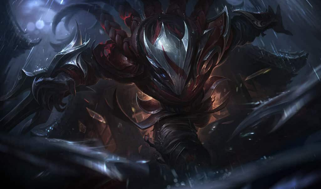 Talon wearing a blood-stained mask - League of Legends assassins