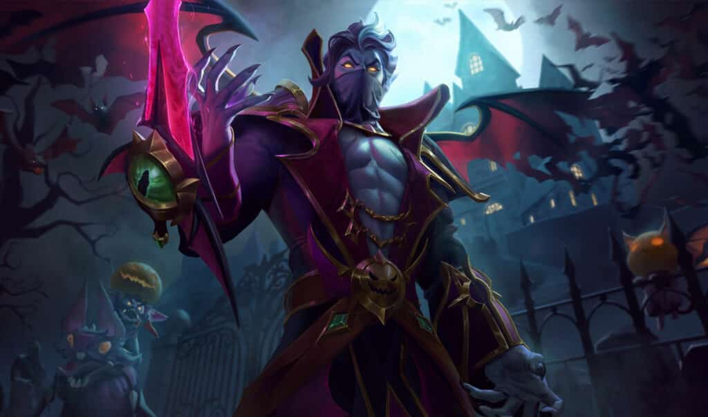 Kassadin wearing a vampire's outfit