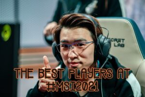 Evi giving a big thumbs up   MSI 2021 Players banner
