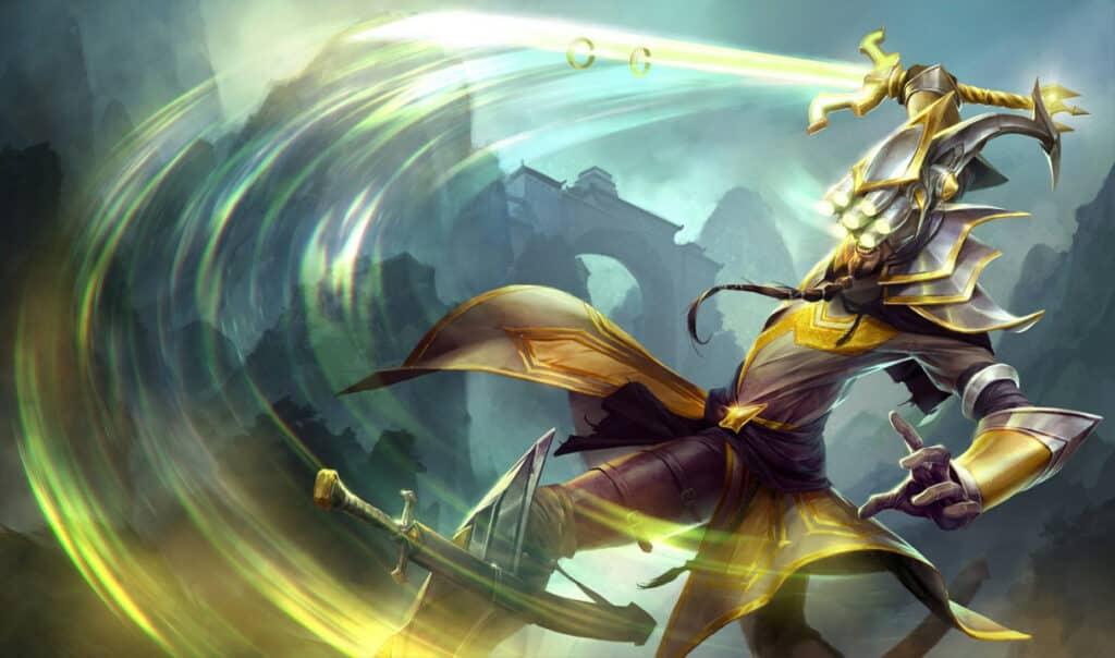 Master Yi slashing her katana