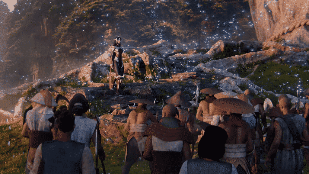 Ionian citizens gather over Irelia - Noxian Invasion