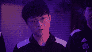 Damwon Kia's Showmaker looking smug at the competition   MSI 2021 Rumble Stage Banner