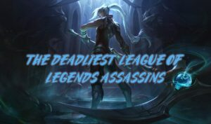 Kayn surrounded by reaped souls | League of Legends Assassins Banner
