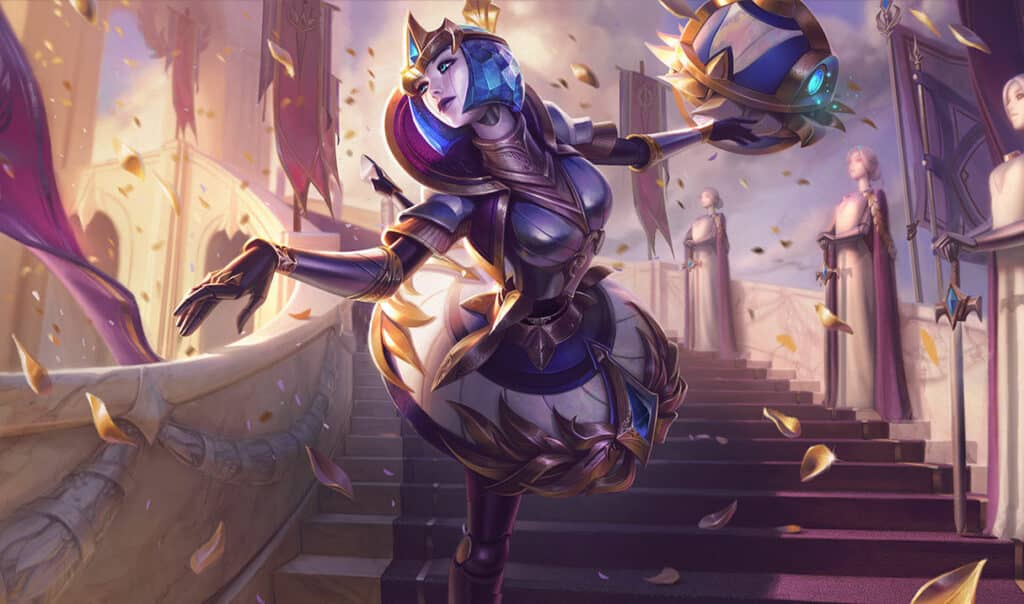 Orianna in a golden city adorned with gold accessory - Best LoL Skin Lines
