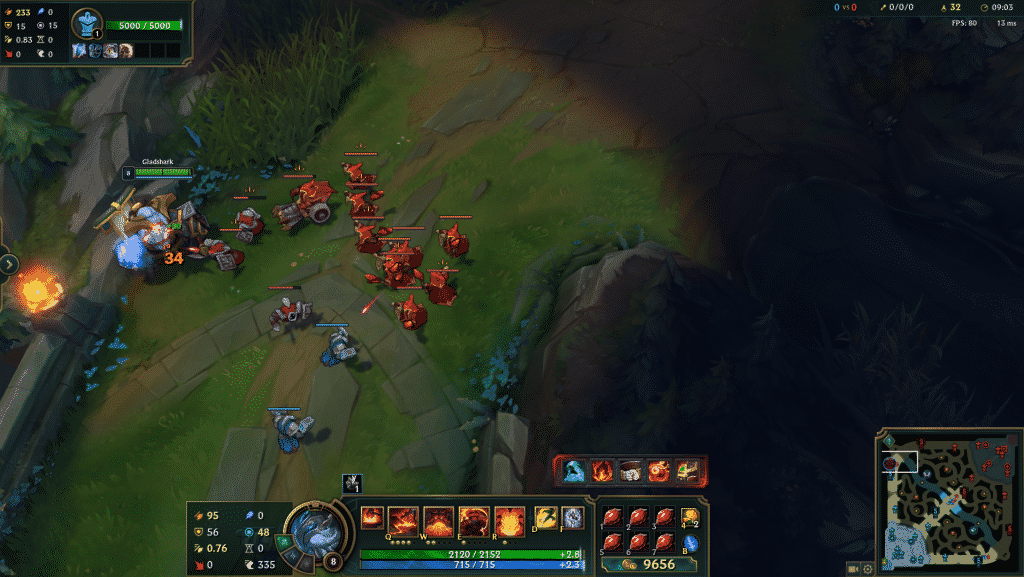 Ornn tanking a bunch of minions   League of Legends Wave Management