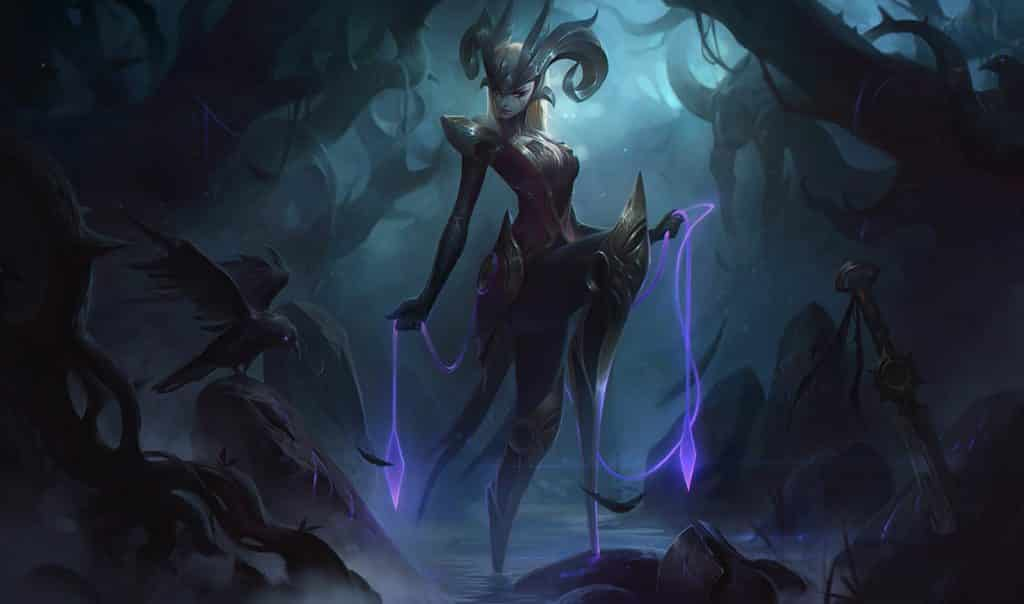 A cultist camille looming in the jungle