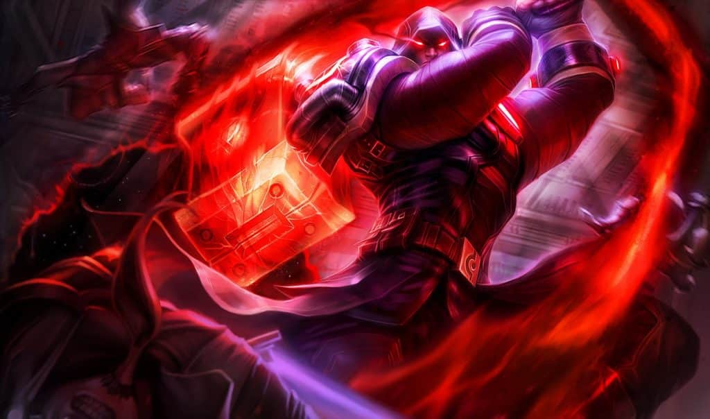Jayce wearing a cultist outfit