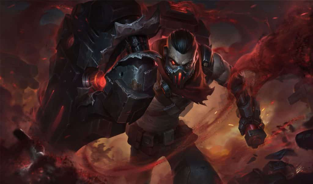 Singed wearing a dreadnaught outfit