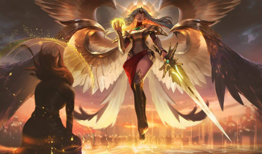 A risen and ascended heavenly form of kayle